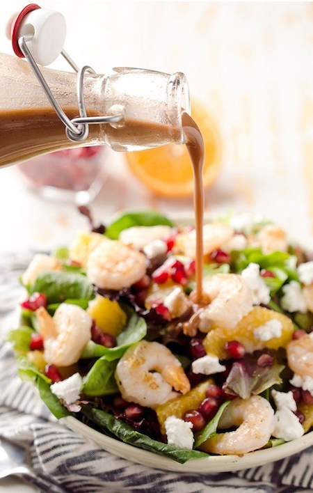 Winter Fruit and Shrimp Salad