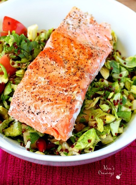 Brussels Sprout Salmon Salad