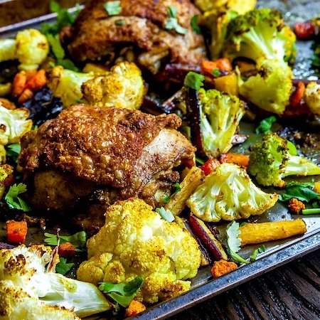 Curried-Chicken-and-Vegetables-Sheet-Pan-Meal