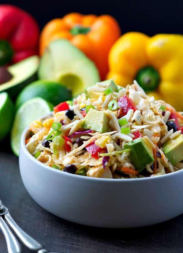 southwestern-chicken-ramen-salad