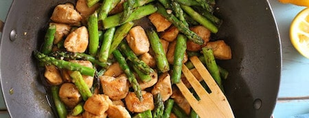 Easy Keto Dinner Recipes To Try Tonight 10 Chicken-and-Asparagus-Lemon-Stir-Fry-min