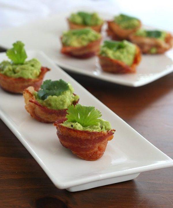 14 Mini Bacon Guacamole Cups
