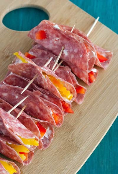 7. salami-cream-cheese-roll-ups Keto lunch recipes for work