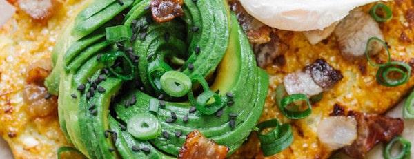 8 Cauliflower Bread With Bacon, Poached Egg & Avocado Easy Keto Breakfast Recipes