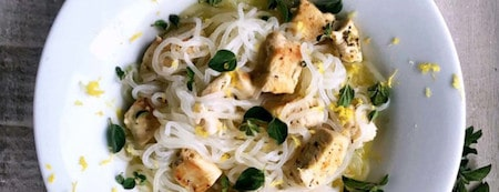 Easy Keto Dinner Recipes To Try Tonight 8 Low-Carb-Angel-Hair-Pasta-With-Lemon-Chicken-min