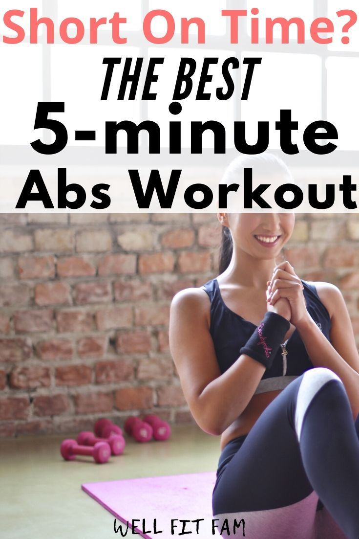 5 Minute Abs Workout At Home to Flatten and Tone Your Tummy