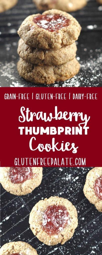 7. Grain-Free Strawberry Thumbprint Cookies-min