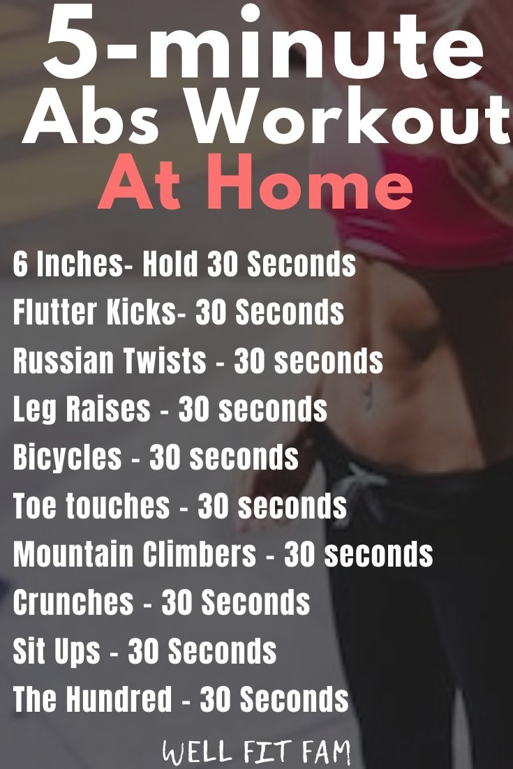 5 Minute Abs at Home