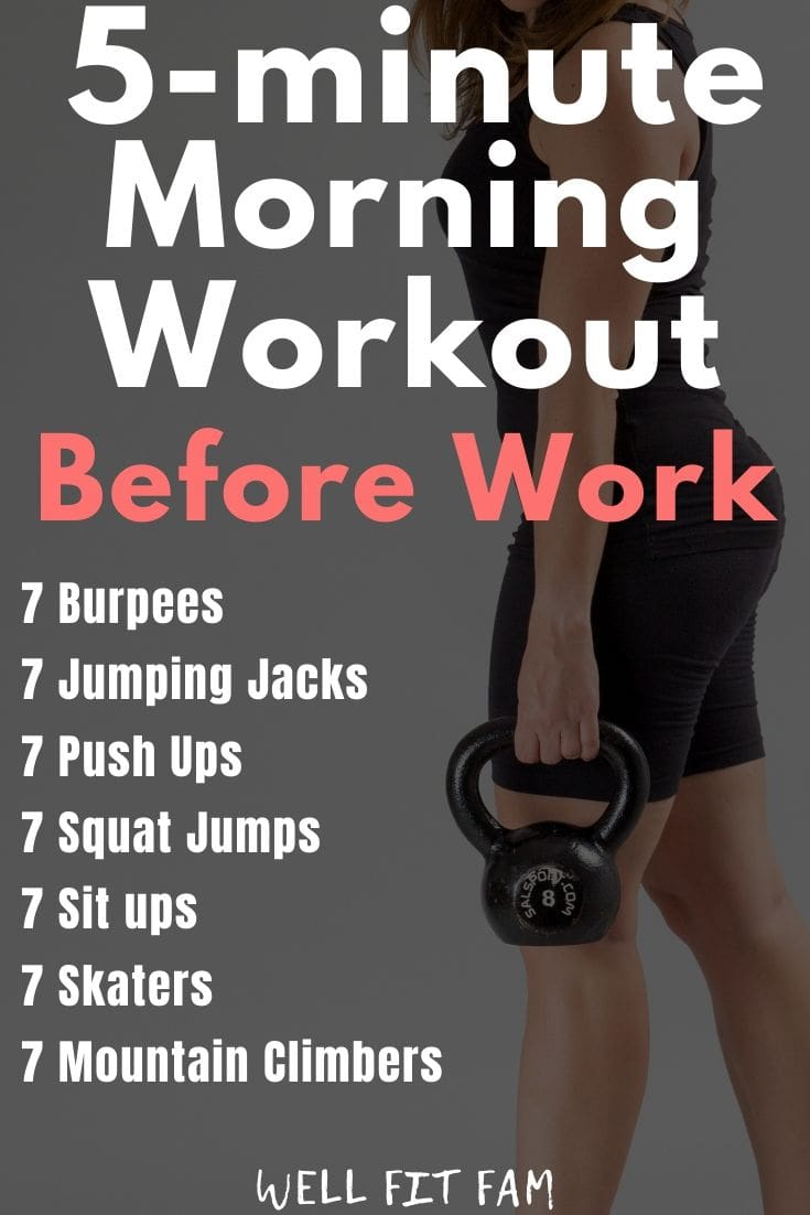 5 Minute Morning Workout Before Work